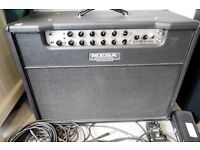 Mesa Boogie 2x12 Lone Star Cabinet 1990's Black with International Flight Case