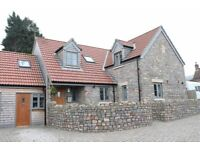 3 bed cottage with parking for 2 and independent 2 storey office in Claverham Bristol