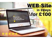 £100 WEB-SITE in 2 days