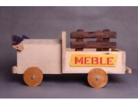 Mini truck, delivery car wooden photo props, newborn baby toddlers photo props for photographer