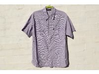 "Rocka Fella L-XL Dark and Light Purple Cheque Short-Sleeved Shirt C47"" & N16"""