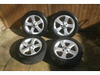 Genuine VW Alloy 16 inch Winter Wheels inc Continental Winter Tyres