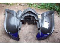 Yamaha raptor 700 660 2005-2013 rear fairing fender black dunlop graphics