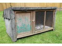 Rabbit / Guinea Pig Hutch - with protective felt covering
