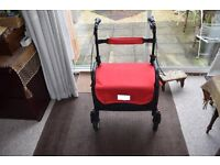 Delta Sport Walker Rollator Wheel Chair - Storage Basket/Brakes/Waterproof Fabric