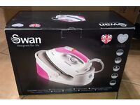 NEW Swan SI9021N 2400W Auto Steam Generator Iron - Pink