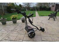 Powakaddy Sport Electric Golf Trolley - 18 hole battery + Accessories