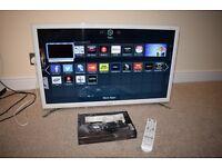 """Samsung UE32F4510AK 32"""" HD Smart TV White Pristine Condition"""