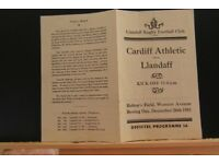 rugby union programmes and memorabilia/also groggs wanted by collector