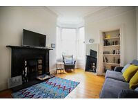 SHORT TERM LET: (Ref 123) Bright & spacious two bedroom flat with shared garden on Brunton Terrace!