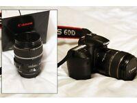 Canon dslr 60d camera & 17-85mm lens excellent condition