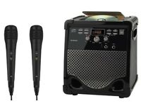 Goodmans XB16CDGBT Karaoke Machine includes 2 Microphones - Boxed as new