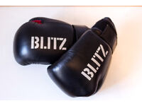 Child size S/M Blitz Boxing Gloves. Black and Red. Order before 1pm for same day delivary.