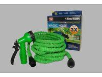Magic Expanding Garden Hose - 50ft/15m inc. Spray Gun