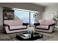 ** 14 DAYS MONEY BACK** RICHMOND ITALIAN FABRIC JUMBO CORD 3+2 SOFA SET BRAND NEW SAME DAY DELIVERY