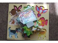 TS Shure Chunky World Puzzle N Book Pets