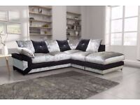 💙💜FLAT 70% OFF SALE !💙💜 BRAND NEW DINO CRUSHED VELVET CORNER SOFA AVAILABLE CORNER AND 3+2 SUITE