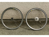 Mavic CXP Elite 700C Road Racing Bike Wheels Hyperglide 32T Cassette Vittoria Zaffiro Tyres