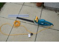 Tesco hedge trimmer, 520w, 49cm cut, little used and in excellent condition