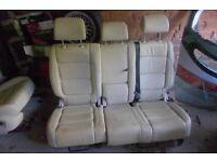 vw tiguan cream leather seats + 3 door cards