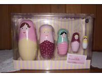 Child's Russian stacking Dolls x 5, brand new from Next, still in box