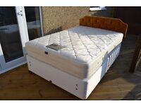 Double Divan Bed with Headboard.