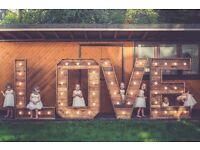HIRE: BRISTOL 5FT MARQUEE PHOTOGRAPHY LETTERS IN RUSTIC OR WHITE FOR WEDDING/PARTY/EVENT