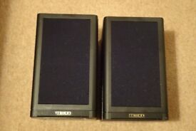 Pair of Mission speakers finished in black - reasonable offers considered