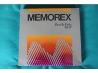 8 inch floppy disks (box of 10 - Unopened) 1S/1D - Memorex