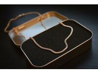 (585) 14ct Russian rose gold chain 5.74 g 53.5cm length