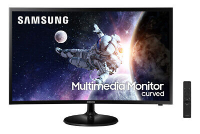 "NEW Samsung Curved 32"" FHD Super Slim Gaming LED Monitor Bla"