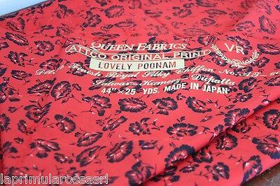 PREZIOSO SCAMPOLO DI STOFFA VINTAGE CHIFFON QUENN FABRICS MADE IN JAPAN 114x290
