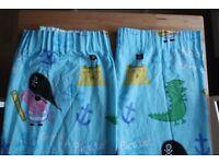 George Pig (Peppa Pig) Pirate curtains