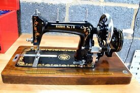 antique vintage harris no1 H sewing machine