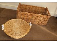 Wicker baskets x 2