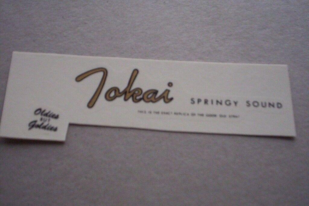 Tokai strat early, springy sound, headstock logo decal, water-slide,Rare