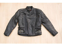 Gear / Keprotec Schoeller Men's Leather Motorcycle Jacket, size 38. Good condition.