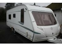 Abbey Spectrum 540 2005 4 Berth Fixed Bed Twin Axle Caravan