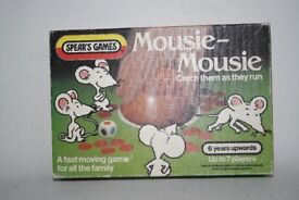 """Boxed Spears """"MOUSIE MOUSIE"""" Family Dice Game Vintage Retro Collectible Complete"""