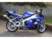 Yamaha R1 Blue 1999, 13900 miles,one owner from new-supporting documents available