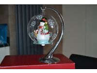 SANTAS EXPRESS LIGHT UP CHRISTMAS ORNAMENT WITH STAND, CHANGES COLOUR, COLLECTORS ITEM