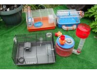 Hamster Cages, ROTASTAK, 4 large cages and accessories