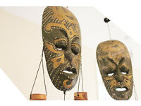 Handmade Masks - original from Indonesia x2
