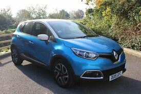 FROM £65 PER WEEK 2015 RENAULT CAPTUR 1.5 DIESEL AUTOMATIC BLUE & WHITE ONLY £20 TAX MEDIA PACK