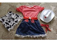Girls Cowgirl Costume/Outfit/Dress Up - Age 7/8
