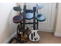 Guitar Hero Band – 2x Guitars and Drum set for Nintendo Wii