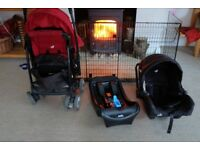 joie juva complete travel system: car seat, car seat base and pushchair £35 ono!!massive reduction!!