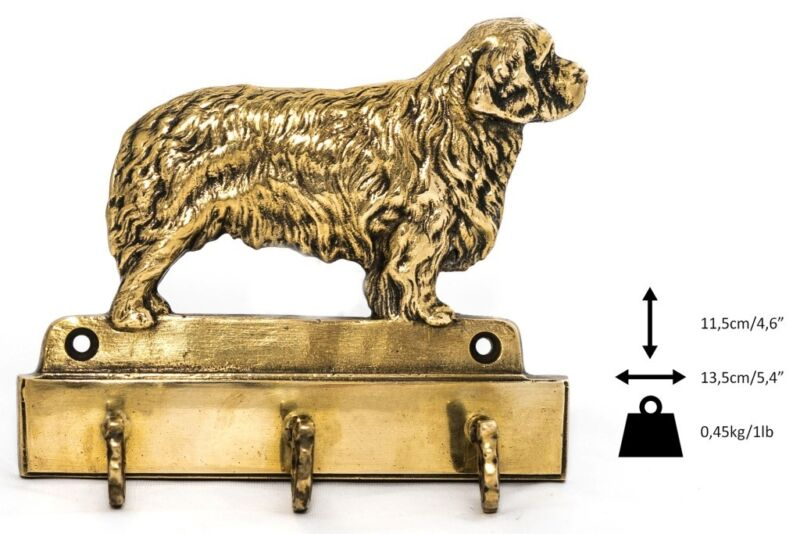 Clumber Spaniel - brass hanger with image of a dog, high quality Art Dog USA