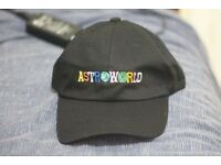 New Travis Scott Travi$ $cott Astroworld Black Hat Tour Merch Cap Strapback Dad Supreme A Cold Wall