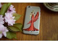 Elegant Lady High Quality ThinSilicon Girl 6Patterns Iphone 6 6S Phone Case Gift